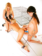 Spoilt Puppygirl Abused 2-on-1