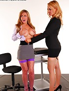 Secretary Jasmine Sinclair will do anything to keep her job Even if it means being bound with tape, abused and fucked by kinky boss Katie K
